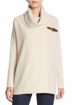 Cashmere Saks Fifth Avenue | Buckle-Trim Cashmere Sweater | SAKS OFF 5TH