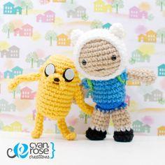 Finn and Jake - Adventure Time - Crochet Patterns by CyanRoseCreations.deviantart.com on @deviantART