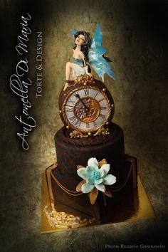 Steampunk time fairy - Cake by antonelladimaria