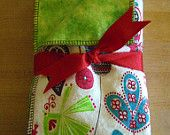 """""""Designer"""" burp cloths for babies.  One of a kind...and they come in sets of 6 gift boxed with a custom gift tag and bow ready to give.  Can be shipped anywhere in the continental U.S. for just an additional $5.00!  Priced at just $23 for the set of 6."""