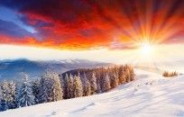 The Beauty Of A Winter Sunset HD wallpapers
