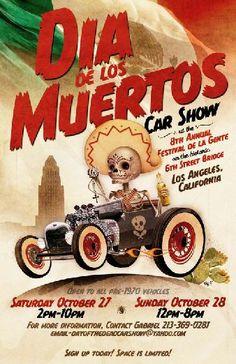 Dia de losMuertos Car Show Flyer
