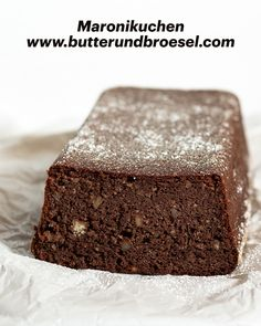 Wie wäre es mit einem saftigen Maronikuchen? Rezept findest du am Blog. #butterundbroesel Blog, Glutenfree, Kuchen, Recipies, Blogging