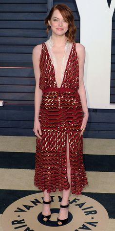 Emma Stone's Red Carpet Style - Altuzarra, 2015 - from InStyle.com