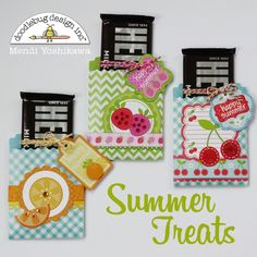 Doodlebug Fruit Stand Treat Bags by Mendi Yoshikawa - Scrapbook.com- DIY treat bags made using the Fruit Stand collection!