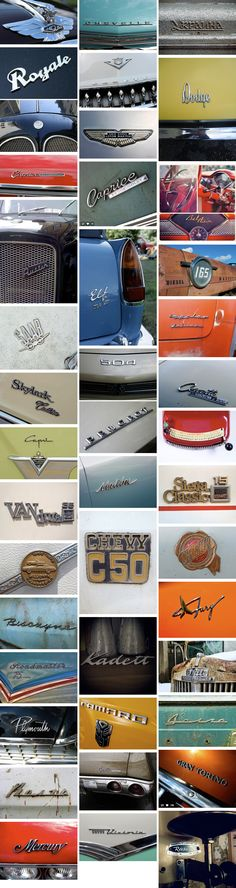 Interesting to see some car brands to have a similar style. http://chromeography.com/