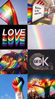Rainbow is Power Lesbian Pride, Lesbian Love, Pansexual Pride, Gay Aesthetic, Lgbt Memes, Rainbow Aesthetic, Lgbt Community, Rainbow Pride, Cute Gay