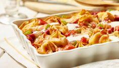 Pikanter Tortelloni-Auflauf mit Chorizo
