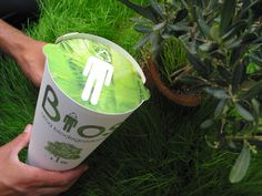 Bios Urn is a biodegradable urn made from coconut shell, compacted peat and cellulose and inside it contains the seed of a tree. Once your remains have been placed into the urn, it can be planted and then the seed germinates and begins to grow. You even have the choice to pick the type of plant you would like to become, depending on what kind of planting space you prefer.