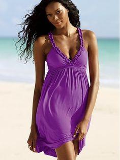 Short Purple Summer Dress