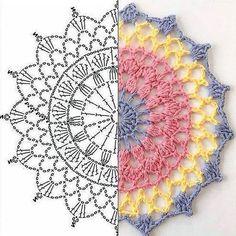 Image gallery - Her Crochet Motif Mandala Crochet, Crochet Doily Patterns, Crochet Chart, Crochet Designs, Crochet Doilies, Crochet Flowers, Crochet Doily Diagram, Crochet Tablecloth, Crochet Afghans