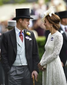 dailymail:  Royal Ascot 2016, Day 2, June 15, 2016-Duke and Duchess of Cambridge