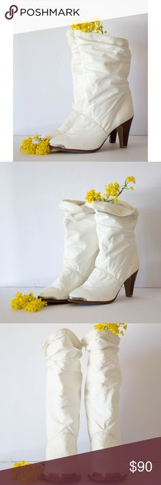 Vintage 80's ZODIAC boots size 8.5 1980's. leather. size 8.5 women's. zodiac. Vintage Shoes Heeled Boots