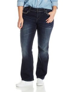 Silver Jeans Women&39s Suki Mid Rise Super Stretch Bootcut Jean