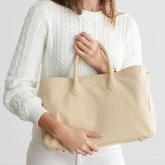 The Elisabetta Slouch Handbag, Kelly Green Leather Handle, Calf Leather, White Leather, Leather Purses, Leather Bags, Personalized Tote Bags, Monogrammed Luggage, Cowhide Bag, Suede Handbags