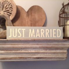 Handmade Wooden Sign  JUST MARRIED  Rustic by LoveLettersMe, £12.95