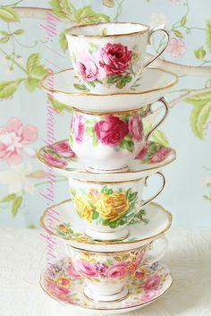 Lovely rose teacups