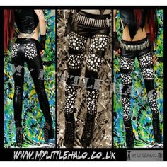 Black and White Goth Skull Print Studded Wet Look Rock Leggings ❤ liked on Polyvore featuring pants, leggings, gothic pants, shiny leggings, goth pants, shiny pants and black and white leggings