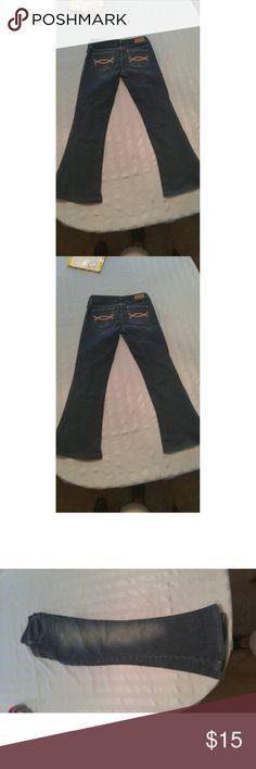 Denim jeans girls size 14 Denim blue jeans comfortable 98% cotton Abercrombie & Fitch Other