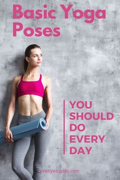 Yoga Poses that are easy and safe for beginners, that you could and should do every day poses acro poses advanced poses back pain poses flexibility poses for abs poses for beginner Restorative Yoga Poses, Basic Yoga Poses, Prenatal Yoga, Yoga Beginners, Beginner Yoga, Advanced Yoga, Yoga Nature, Hard Yoga, Morning Yoga