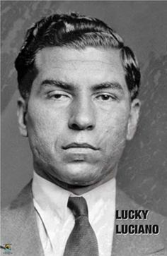 LUCKY LUCIANO mafia GANGSTER 23X35 POSTER