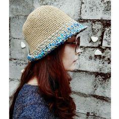 """""""창늘리기가 사라졌다""""...벙거지모자/여름밀짚모자/쉬운모자뜨기 : 네이버 블로그 Bucket Hat, Dream Catcher, Knitting, Hats, Baking, Fashion, Templates, Tejidos, Creative Crafts"""