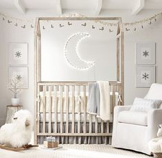 The simple Cole Bed provides a sweet wintry retreat for little ones. Soft flannel bedding and festive decor complete the look.