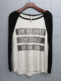 She Believed She Could So She Did Shirt from Gypsy Outfitters - Boho Luxe Boutique