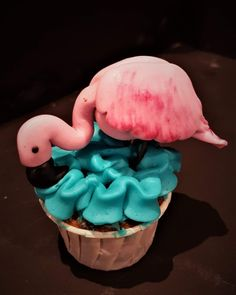 Cupcake flamand rose