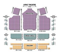 Lyric Theater Nyc Seating Chart Nyc Visitors Pinterest