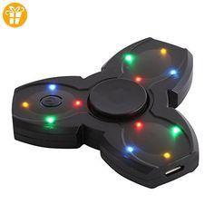Crysle LED leuchtet Bluetooth Lautsprecher Hand Spinner Fidget Hand Spinner EDC Focus Spielzeug entlastet Stress, Angst, Langeweile - Fidget spinner (*Partner-Link)