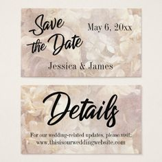 Romantic Vintage Floral Save the Date Card - calligraphy gifts custom personalize diy create your own