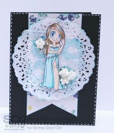 Card using Formal Mae digi stamp from @Some Odd Girl