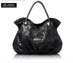 100% Genuine Leather + Lase + Flower OL Tote Bag