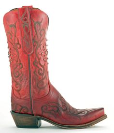 Ladies Lucchese Boots | Womens Lucchese Mad Dog Goat Boots Red Style N4724 | Lucchese | Allens ...