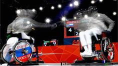 Marat Yusupov of Russia beats France's Pierre Manville in the quarter finals of the men's Individual Sabre - Category B Wheelchair Fencing tournament.