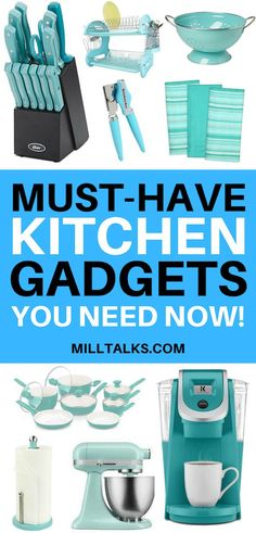 Must Have Kitchen Gadgets Looking for some fun kitchen gadgets? Here's a list of 40 gadgets your kitchen needs whether your just starting out or looking for something new! The post Must Have Kitchen Gadgets appeared first on Wohnaccessoires. Smart Kitchen, Kitchen Items, Kitchen Utensils, Kitchen Hacks, Kitchen Gifts, Kitchen Stuff, Kitchen Products, Kitchen Things, Kitchen Supplies