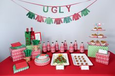 Here's an epic list of 21 ugly sweater Christmas party ideas you won't want to miss! If an ugly sweater Christmas party is part of your holiday plans this year, take note. From ugly sweater Tacky Christmas Party, Diy Ugly Christmas Sweater, Ugly Sweater Party, Xmas Party, Christmas In July, Holiday Parties, Holiday Fun, Christmas Games, Diy Christmas Party Decorations