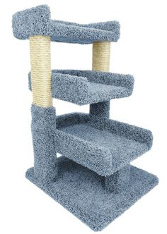 large cat tree post - New Cat Condos Premier Triple Cat Perch, Gray * Check out the image by visiting the link. (This is an affiliate link) Cool Cat Trees, Diy Cat Tree, Cool Cats, F2 Savannah Cat, Cat Perch, Cat Scratching Post, Cat Condo, Grey Cats, Cat Furniture