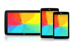 LG anunció nuevas tablets G Pad, pero ahora en tamaños de 7, 8 y 10.1 pulgadas, que vendrán a unirse a la LG G Pad 8.3 que ya se vende desde hace unos meses.