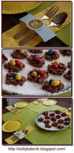 no bake chocolate cookies with eggs Bird Birthday Parties, Birthday Fun, Birthday Celebration, Birthday Ideas, Angry Birds Nest, Yellow Balloons, Time To Celebrate, Childrens Party, Chocolate Cookies