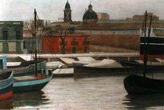 "Fortunato Lacámera, ""Gris"" óleo sobre tabla, 50 x 70 cm."