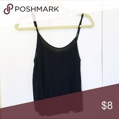 Black flowy top Black flowy top, cotton, adjustable straps Tops