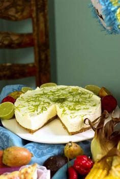 En syrlig cheesecake som passar perfekt efter lite stark mat.