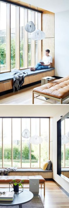 Brilliant home decor ideas to increase natural light in your house and make the room brighter – big window seat living room design
