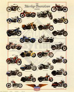 Harley Davidson Legend poster #motorcycles