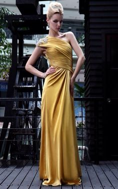 Gold Dress Evening Dresses For Weddings Long Gowns Prom Bridesmaid