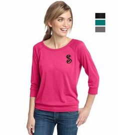 $26 Monogrammed Raglan 3/4 Sleeve T-shirt