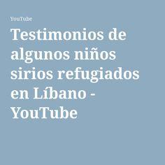 En este vídeo de Youtube hemos encontrado varios testimonios de niños que tuvieron que huir de su país a campos de refugiados. Aquí nos cuentan su experiencia.