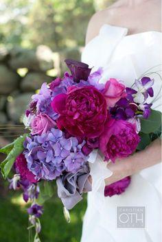 wedding bouquet ideas  colours to match bridesmaid dresses?  vs: white  Christian Oth 6